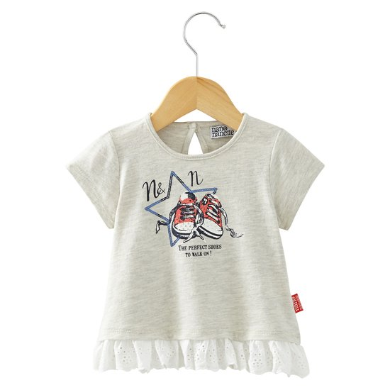 T-shirt dentelle collection In LA Fille Gris  de Nano & nanette