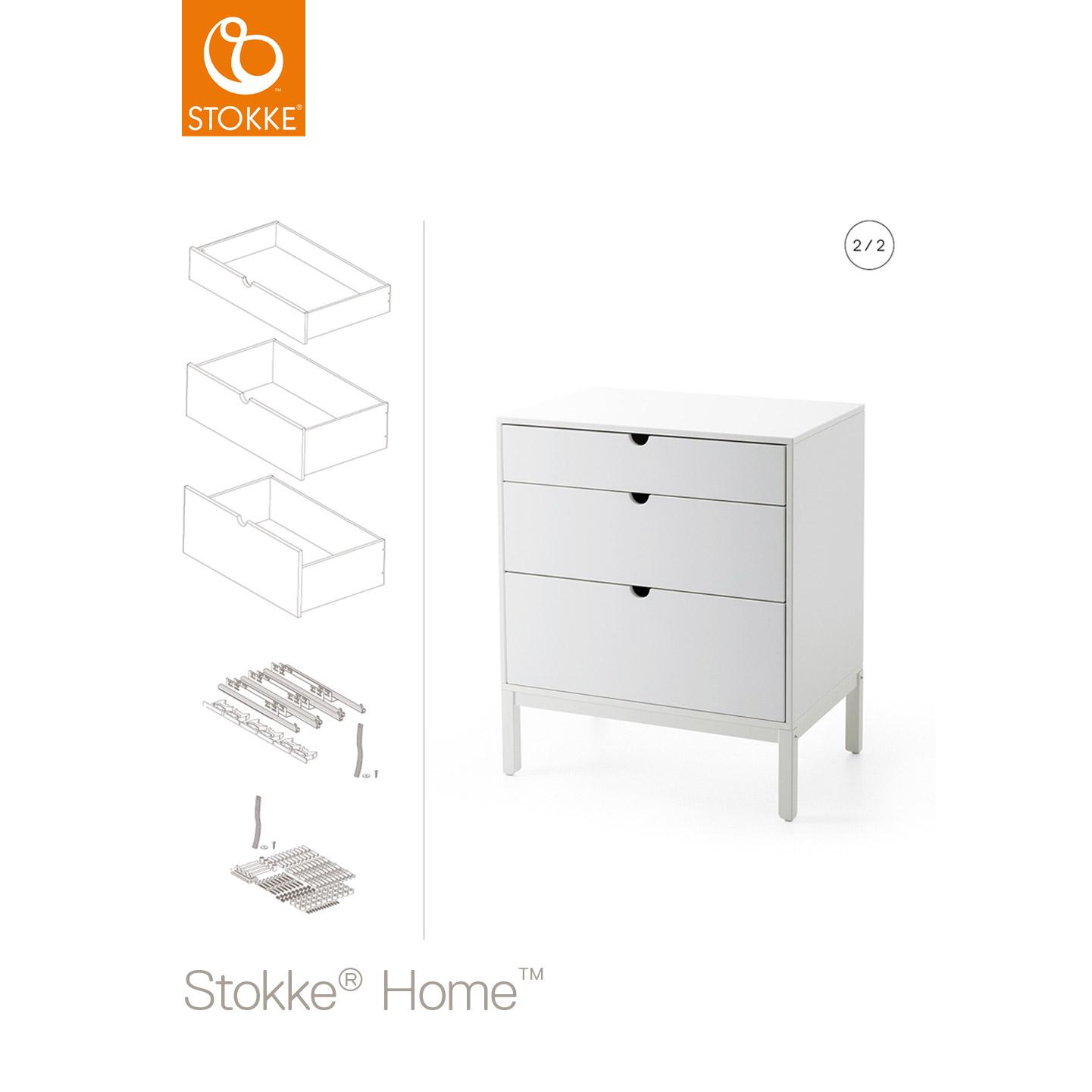 Home tiroirs commode Blanc de Stokke®, Commodes   Aubert 41e057025ac