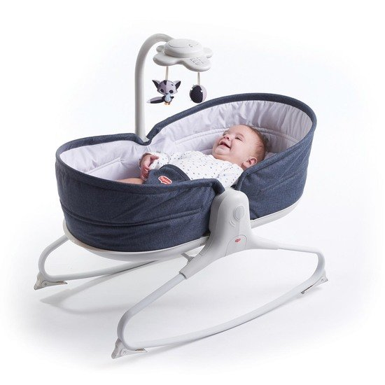 Transat Rocker Napper Evolution Blue Jean  de Tiny Love