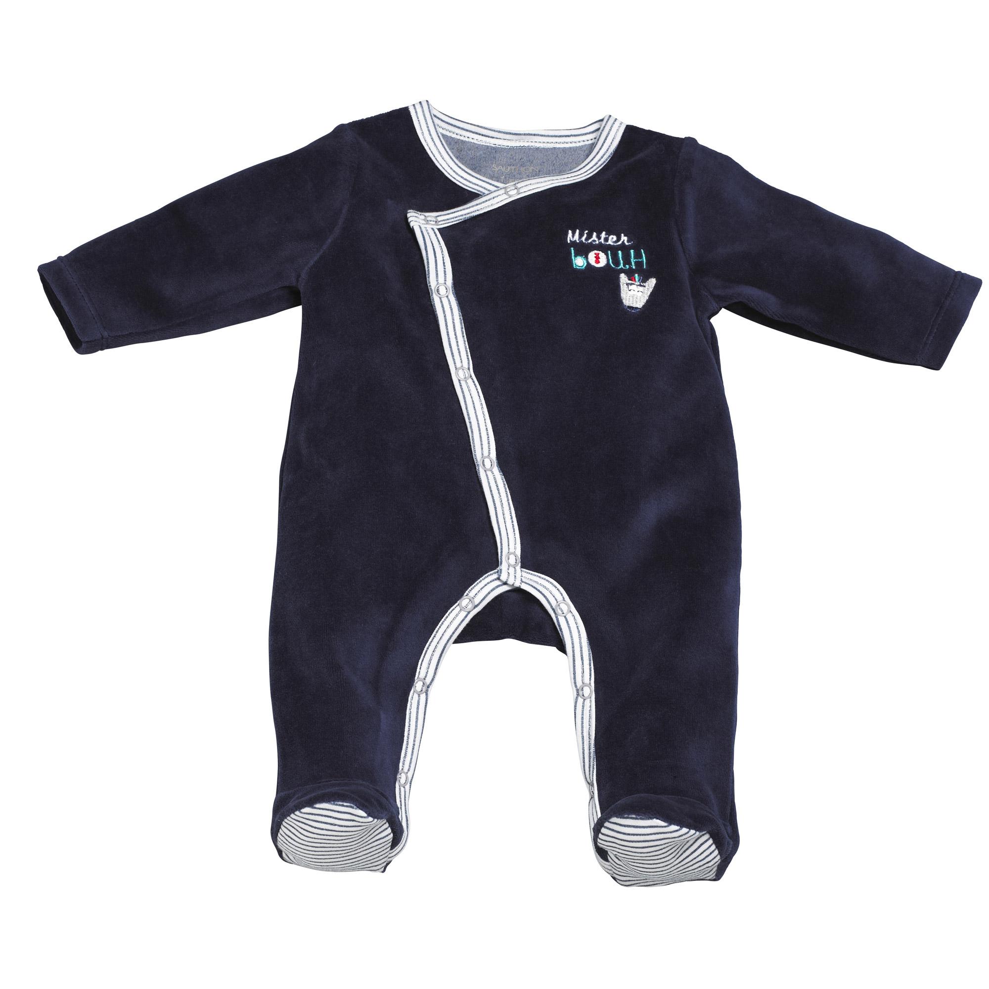garantie de haute qualité les plus récents célèbre marque de designer Mister Bouh pyjama en velours MarinNaissance