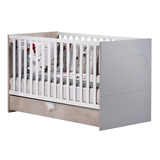 Nova Little Big Bed 70 x 140 Bois 70x140 de Sauthon Baby's Sweet Home