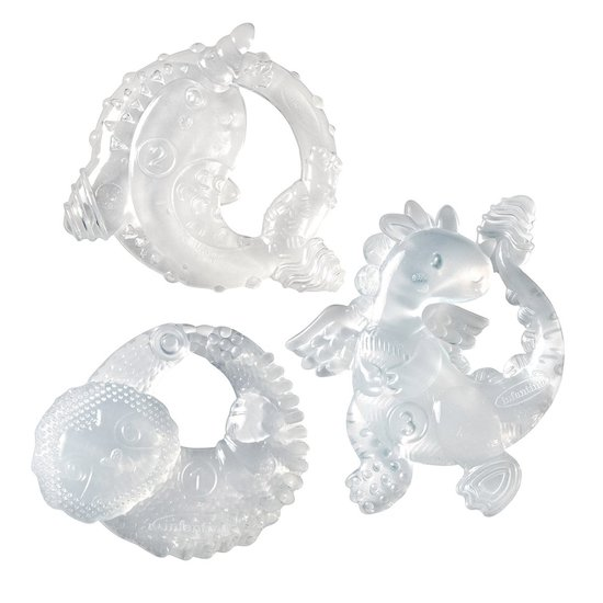 Lot de 3 anneaux de dentition crystal clear Transparent  de Infantino