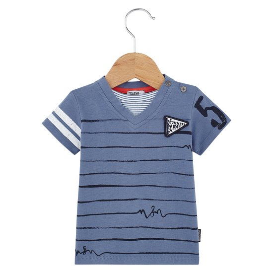 T-shirt manches courtes collection English Summer Camp Garçon Bleu Prince  de Nano & nanette