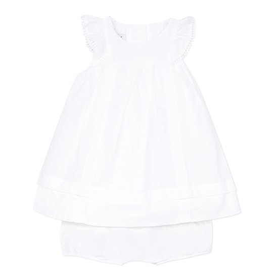Ensemble robe + short Blanc  de Absorba