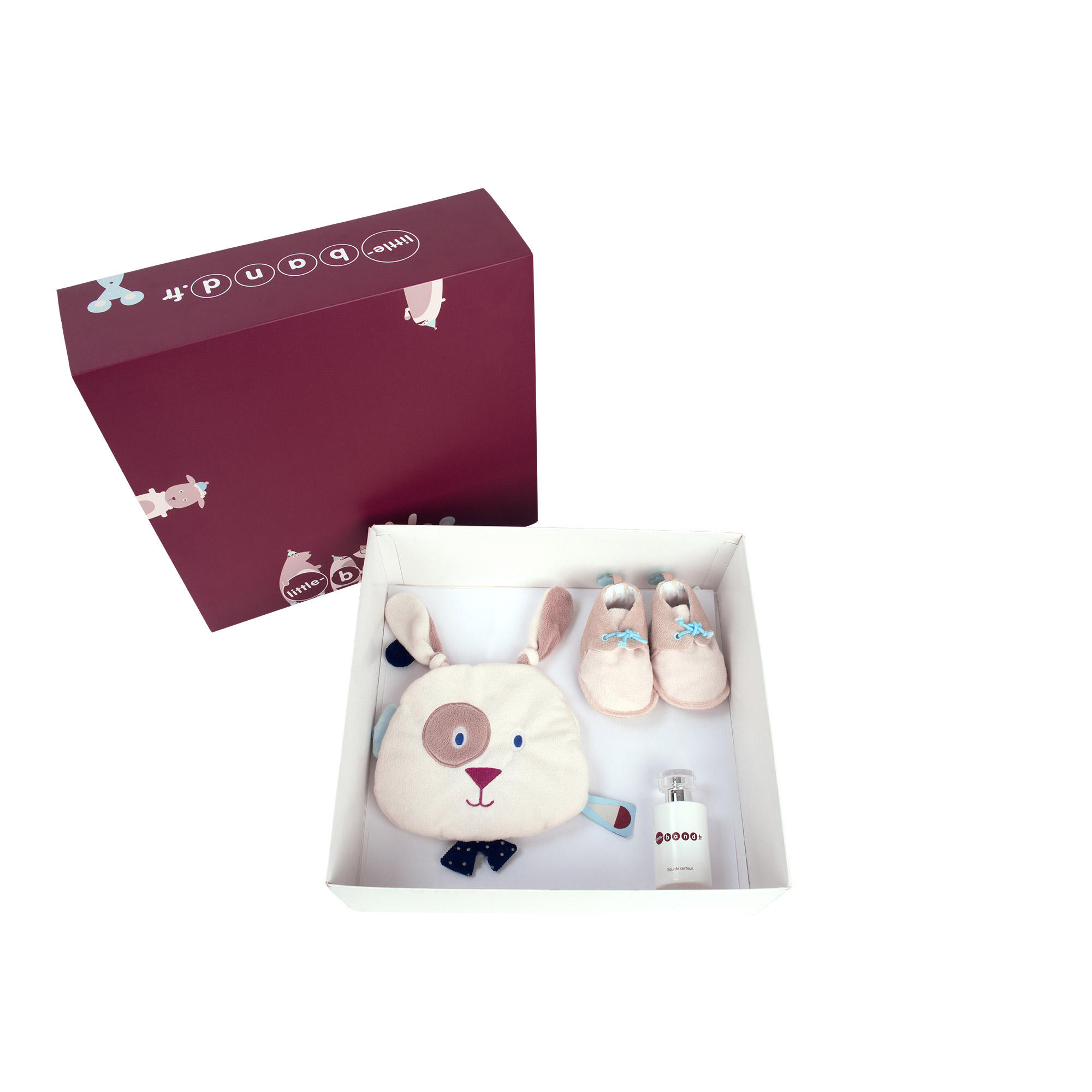 Balloon Company coffret doudou + chausson Beige  de Little Band