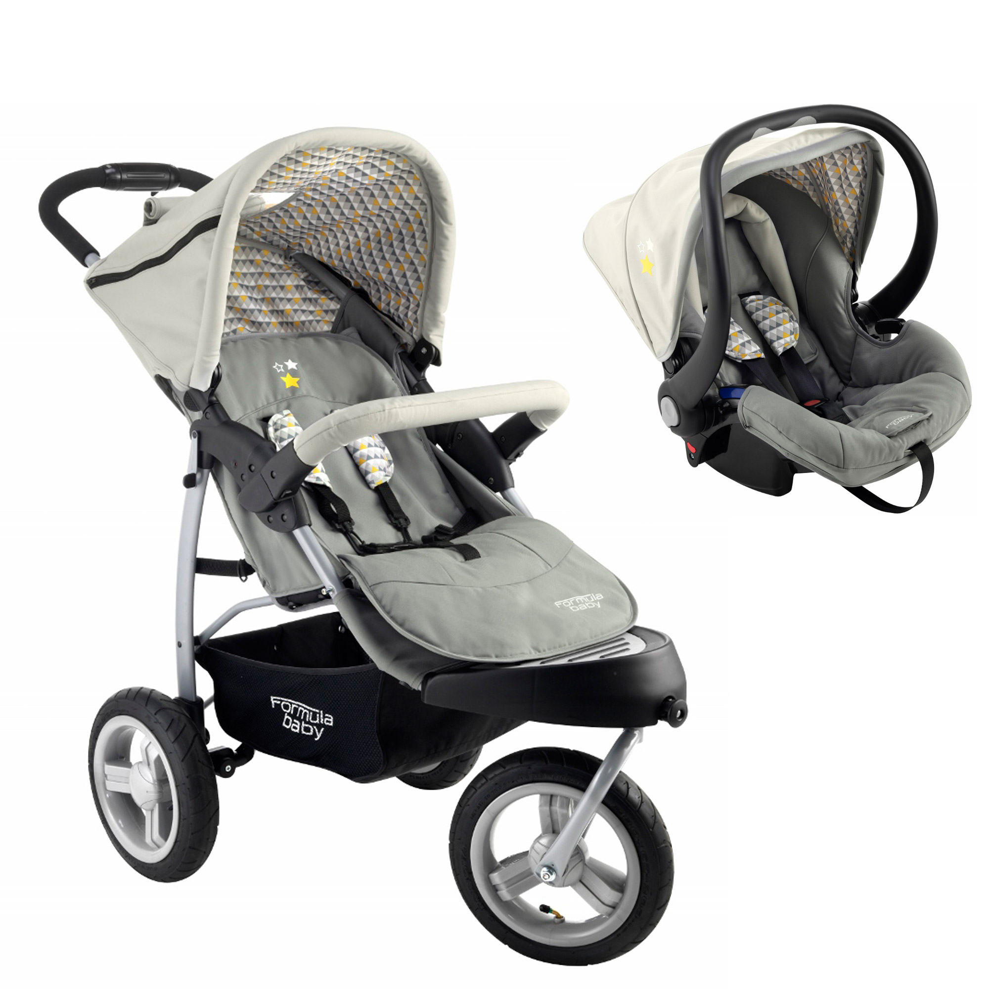 Pack 3 roues Arlequin de Formula Baby, Poussettes polyvalentes   Aubert c31487d4fba