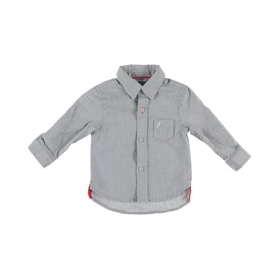 Chemise rayée collection Smart Boy Gris/Blanc  de Noukies