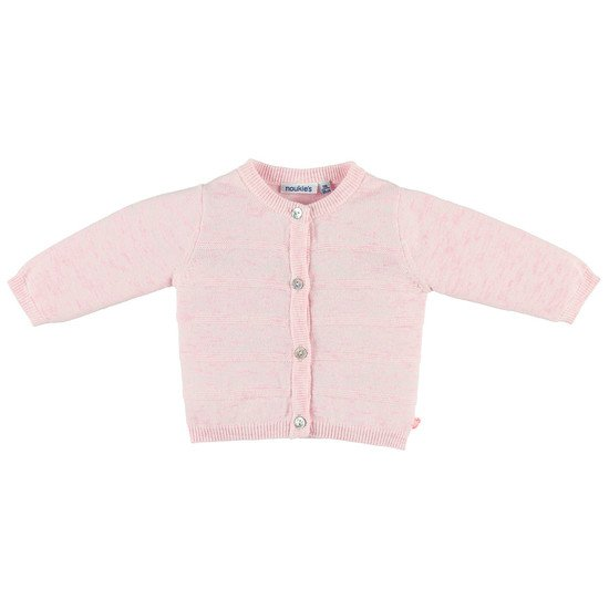Cardigan en tricot Fille Collection Cocon Eté Rose clair  de Noukies