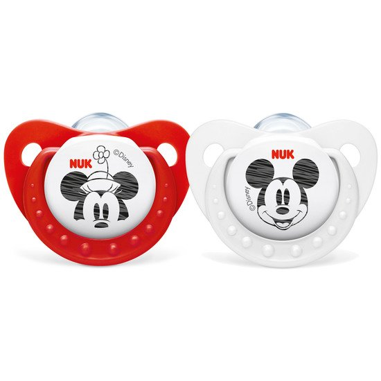 2 sucettes taille 2 Mickey fille