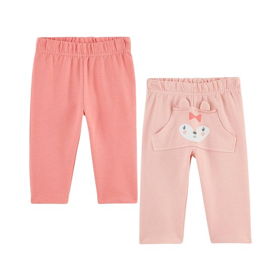 Lot de 2 pantalons Rose  de P'tit bisou