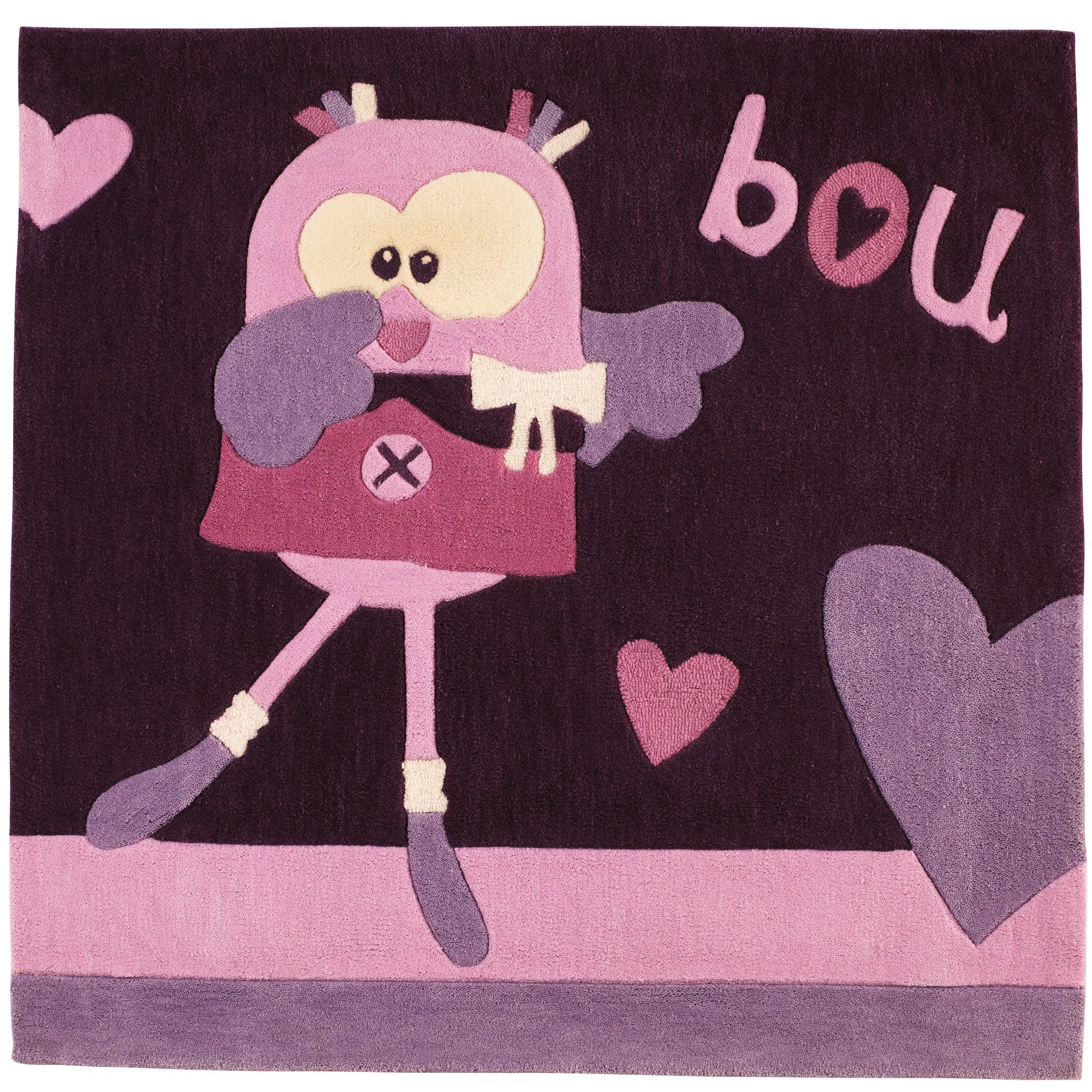 Mam Zelle Bou Tapis 110x110 Cm Violet 110x110 Cm De Sauthon Baby