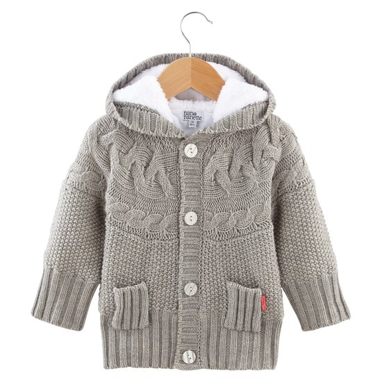 Cardigan collection Amsterdam Forever Fille Gris  de Nano & nanette