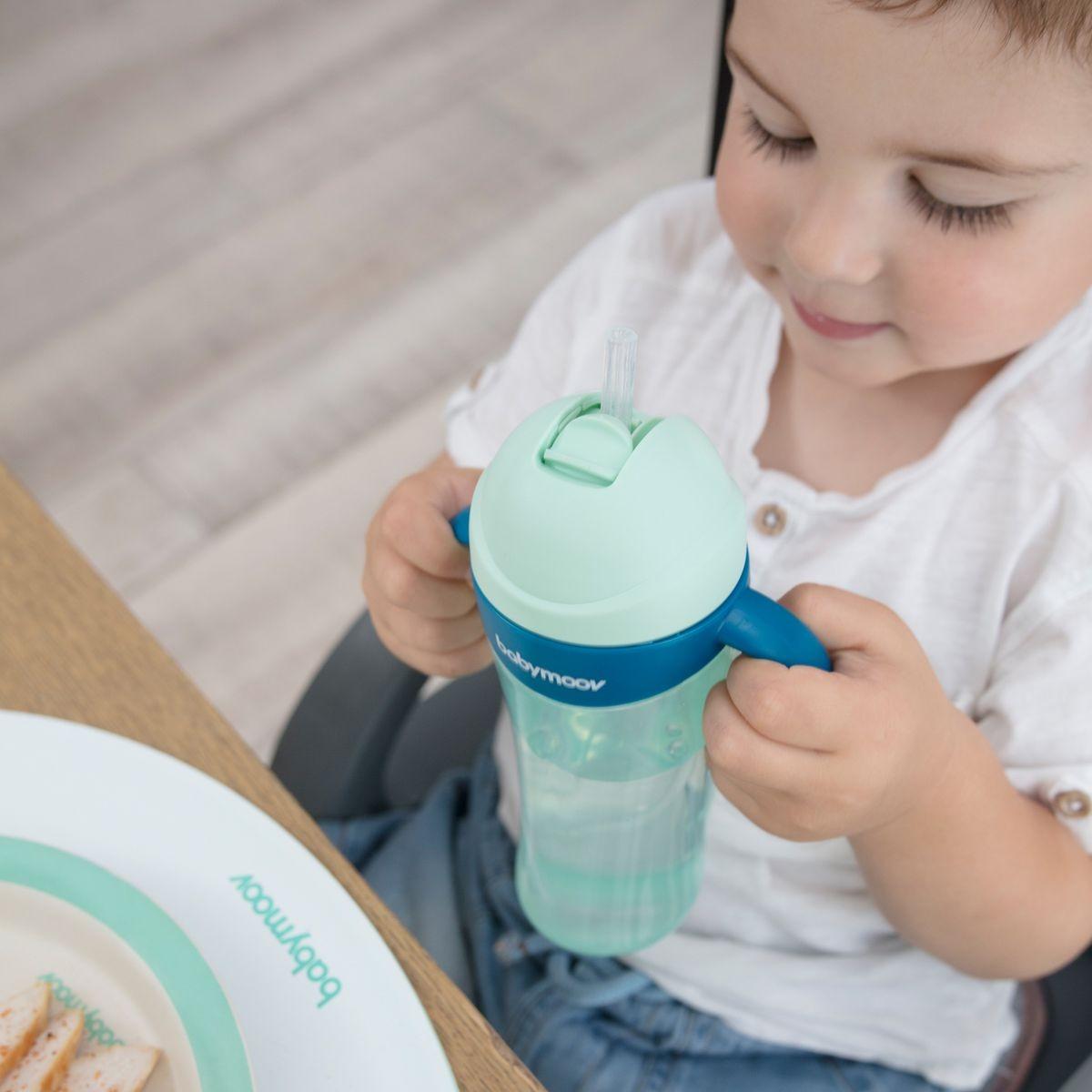 Tasse à paille 2ème age 300ml Azur 300 ml de Babymoov