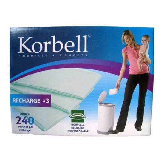 Recharge pour Poubelle Korbell Standard x3