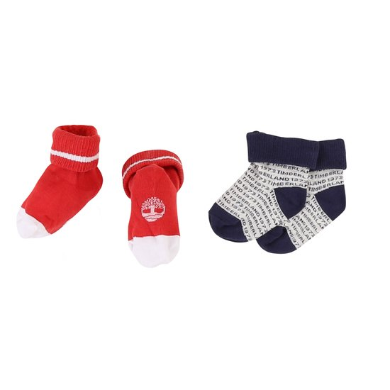Lot 2 paires chaussettes collection Timberland Tomate  de Timberland