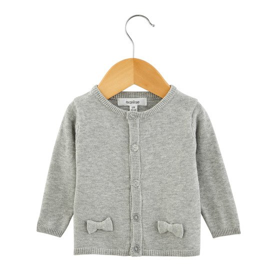 Cardigan Fille Collection Portobello Gris London  de Marèse