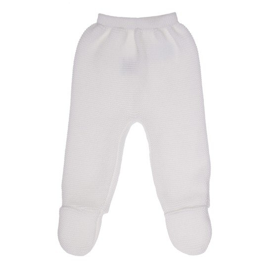 Pantalon bio collection Tricot Blanc  de P'tit Bisou Trousseau
