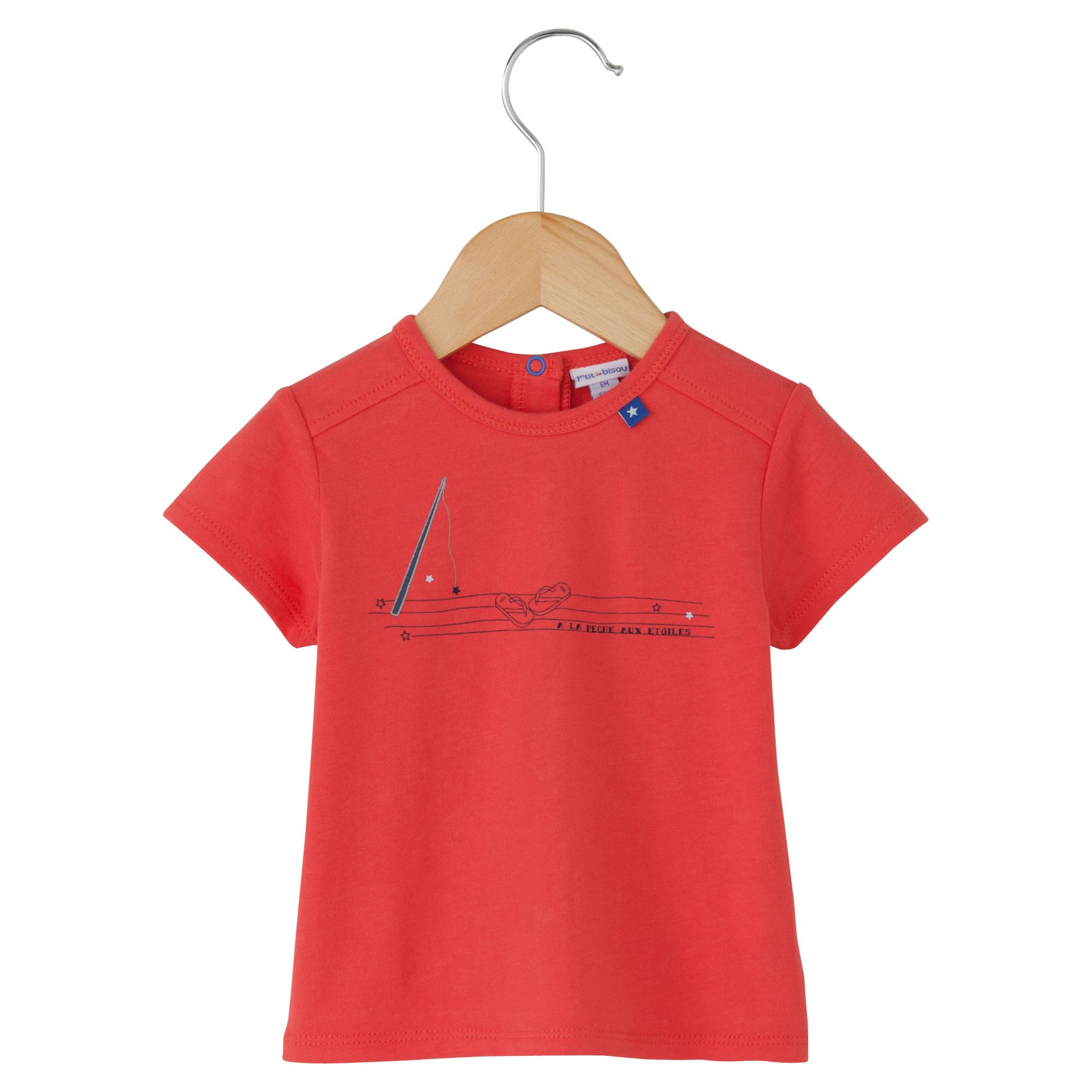 T-shirt collection Little Navy Rouge 6 mois de P'tit bisou