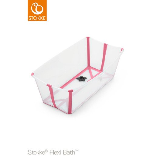 Baignoire Flexi Bath™ Transparent rose  de Stokke®