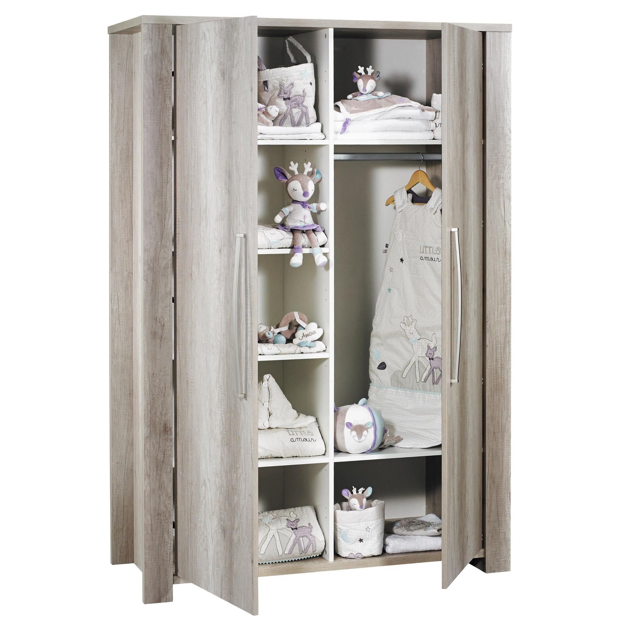 Emmy armoire 2 portes Chêne  de Sauthon Baby's Sweet Home