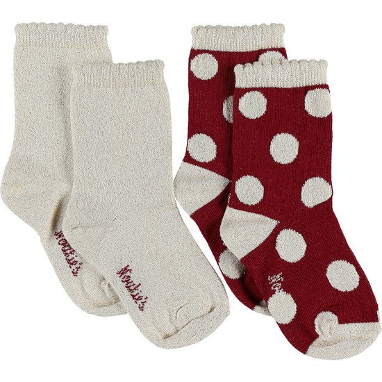 Lot de 2 paires de chaussettes Collection Smart Girl
