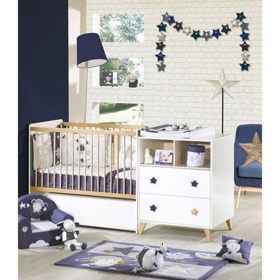 Chambre Bébé Winnie L Ourson Sauthon : Lit combiné évolutif transformable lits chambre bébé