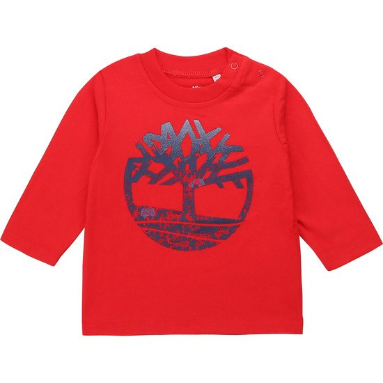 T-shirt à manches longues collection Timberland Hiver 2019 Tomate  de Timberland