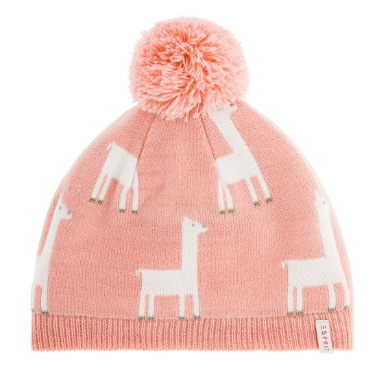 Bonnet fille Lamas rose  de Esprit Kids