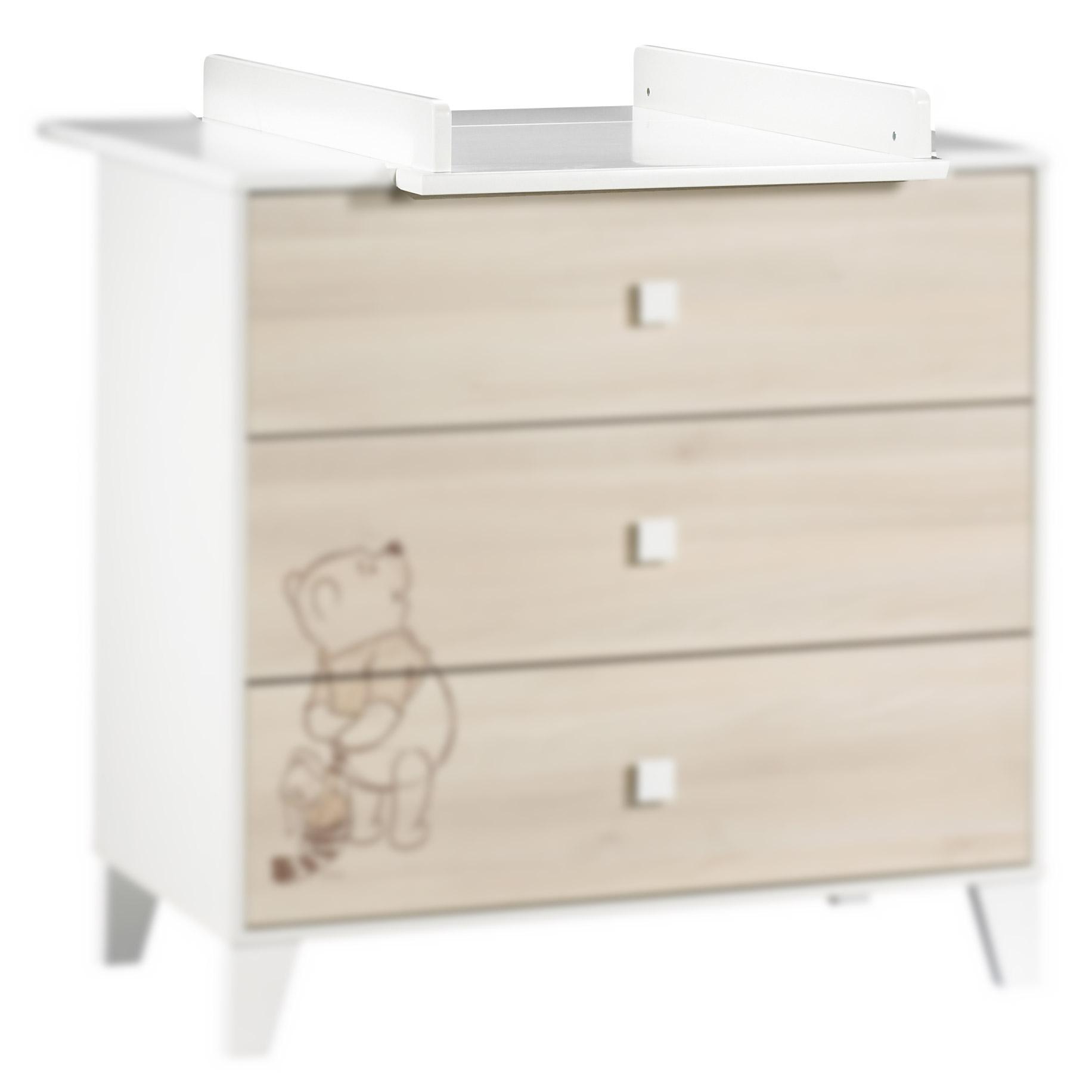 Winnie l\'Ourson plan à langer Blanc Petit modèle de Sauthon Baby\'s ...