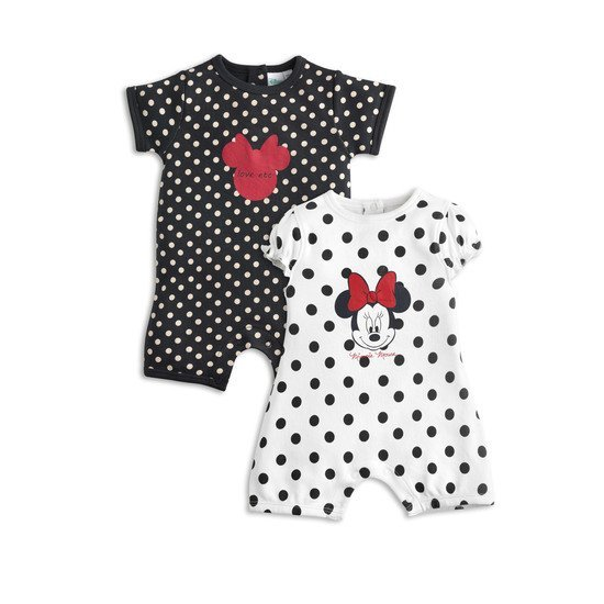 Minnie lot de 2 combis Noir / Blanc  de Disney Baby
