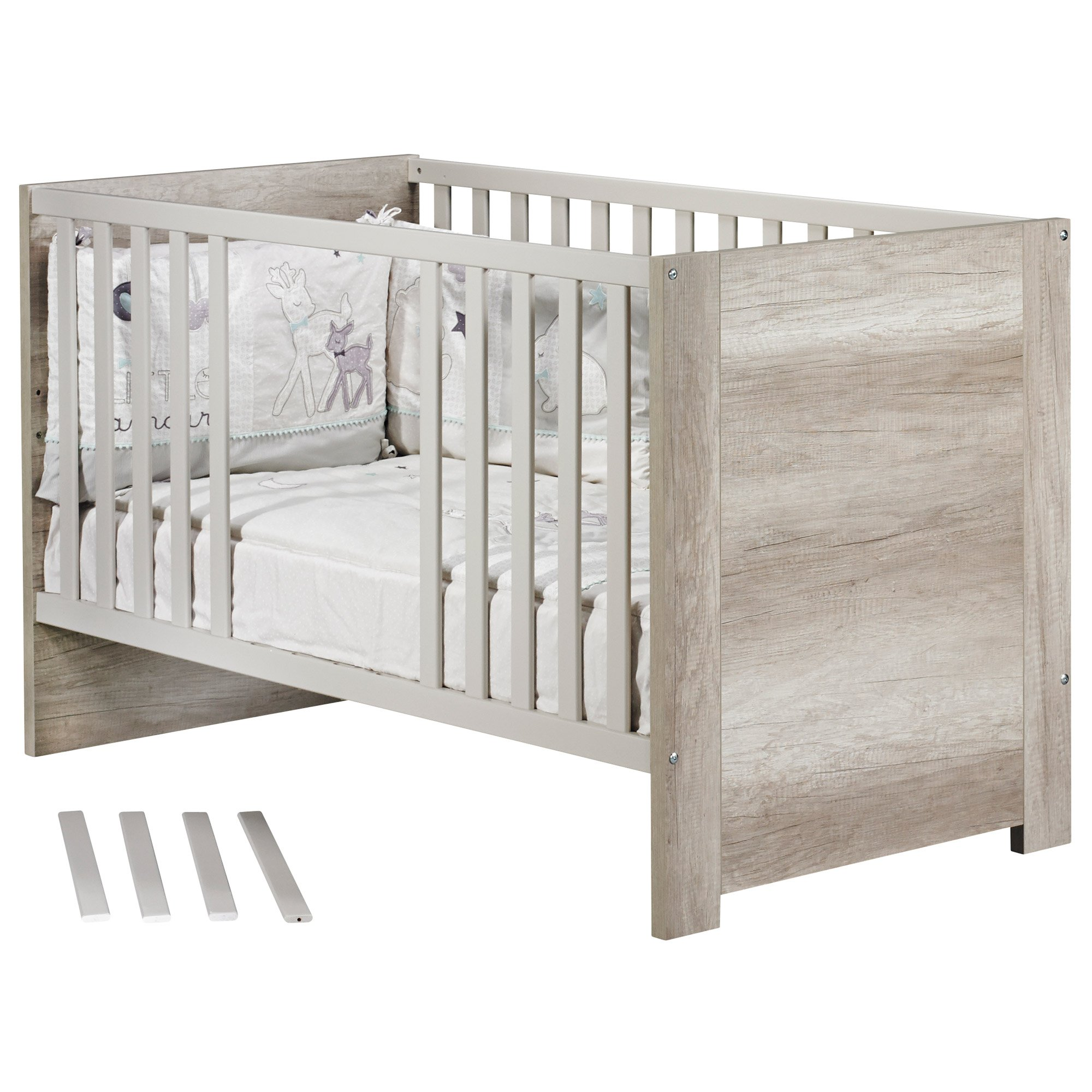 Emmy Little Big Bed 70x140 Chêne 70x140 de Sauthon Baby's Sweet Home