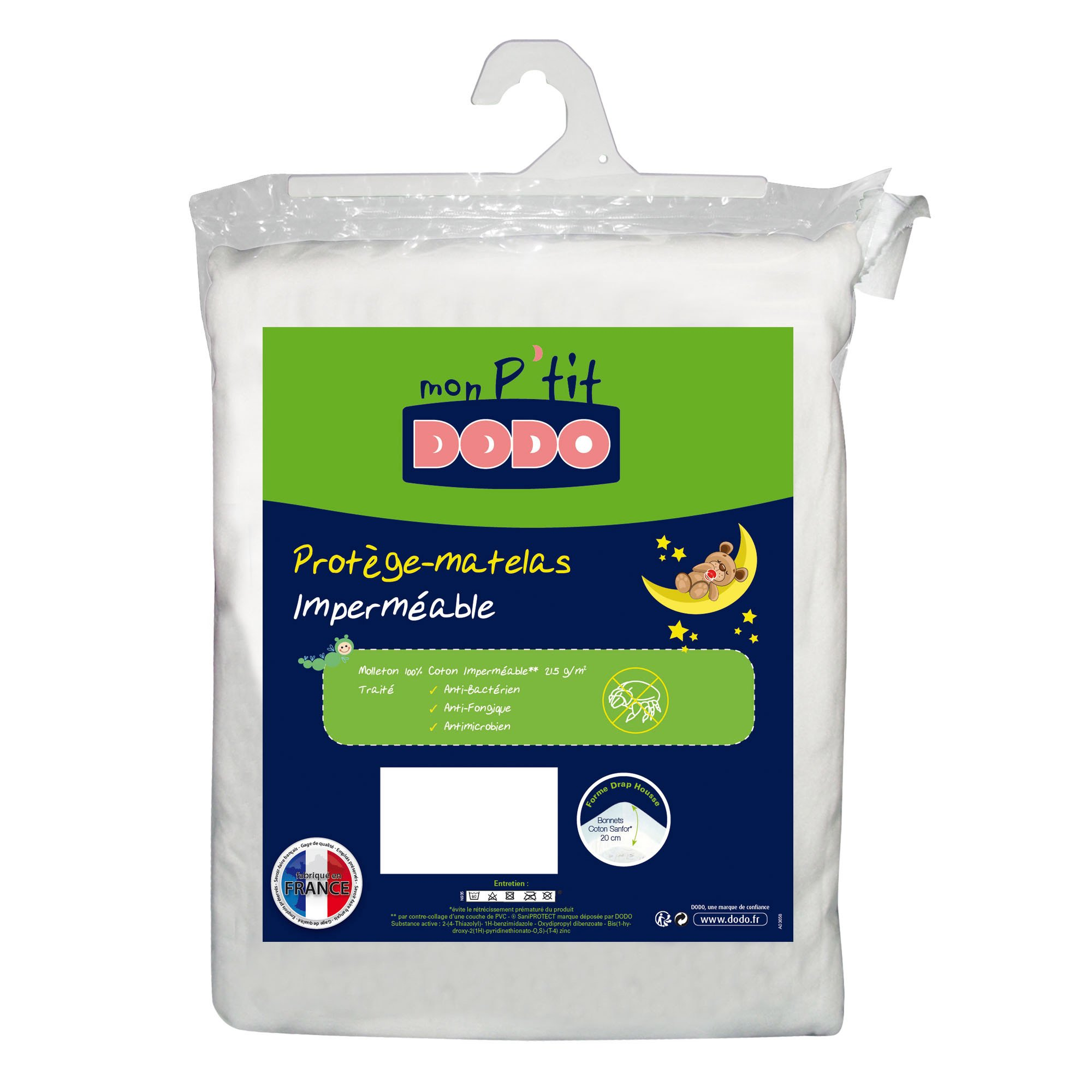 Protege Matelas Molleton Impermeable Blanc 40x80 De P Tit Dodo