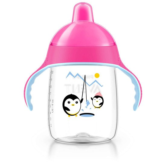 Tasse bec anti-fuite pingouin 340ml Rose 340 ml de Philips AVENT