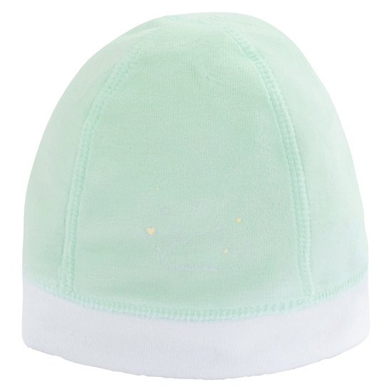 Bonnet en velours collection Nuages Vert  de P'tit Bisou Trousseau