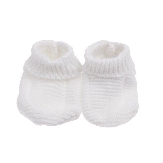 Chaussons bio collection Tricot Blanc  de P'tit Bisou Trousseau