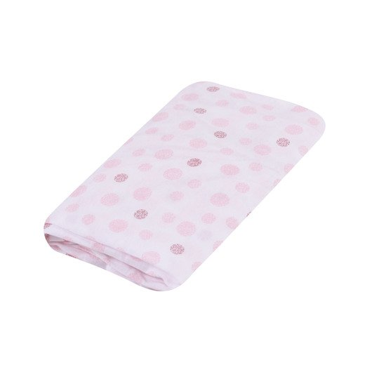 Birdy drap housse mousseline Rose 60x120 de Domiva