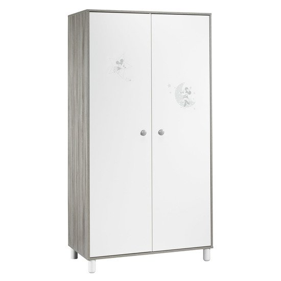 Mickey armoire 2 portes Blanc  de Sauthon Baby's Sweet Home