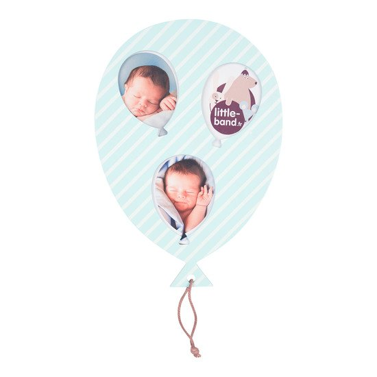 Balloon Company cadre photo ballon Bleu  de Little Band