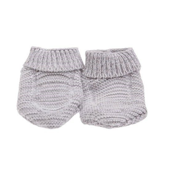 Chaussons bio collection Tricot Gris  de P'tit Bisou Trousseau