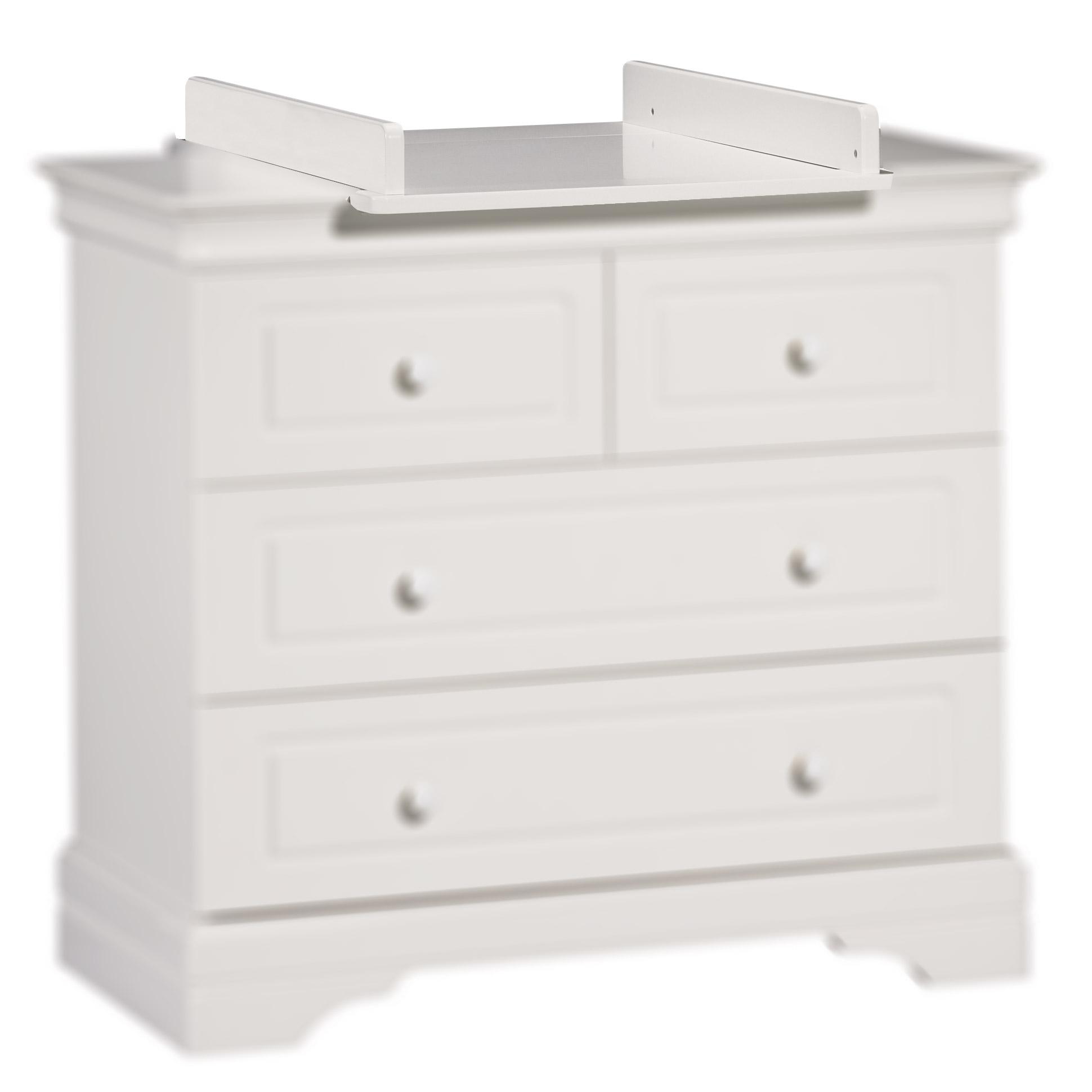 Commode A Langer Angle elodie plan à langer commode 4 tiroirs gris petit modèle de