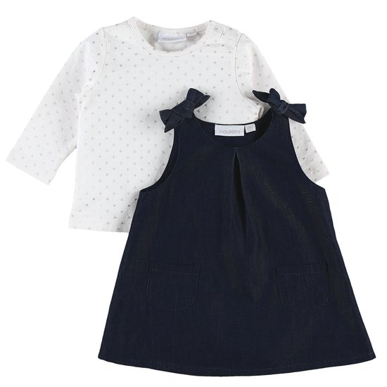 Set robe et t-shirt Cocon Fille 2019 Denim  de Noukies